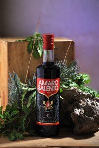 Amaro Salento with herbs