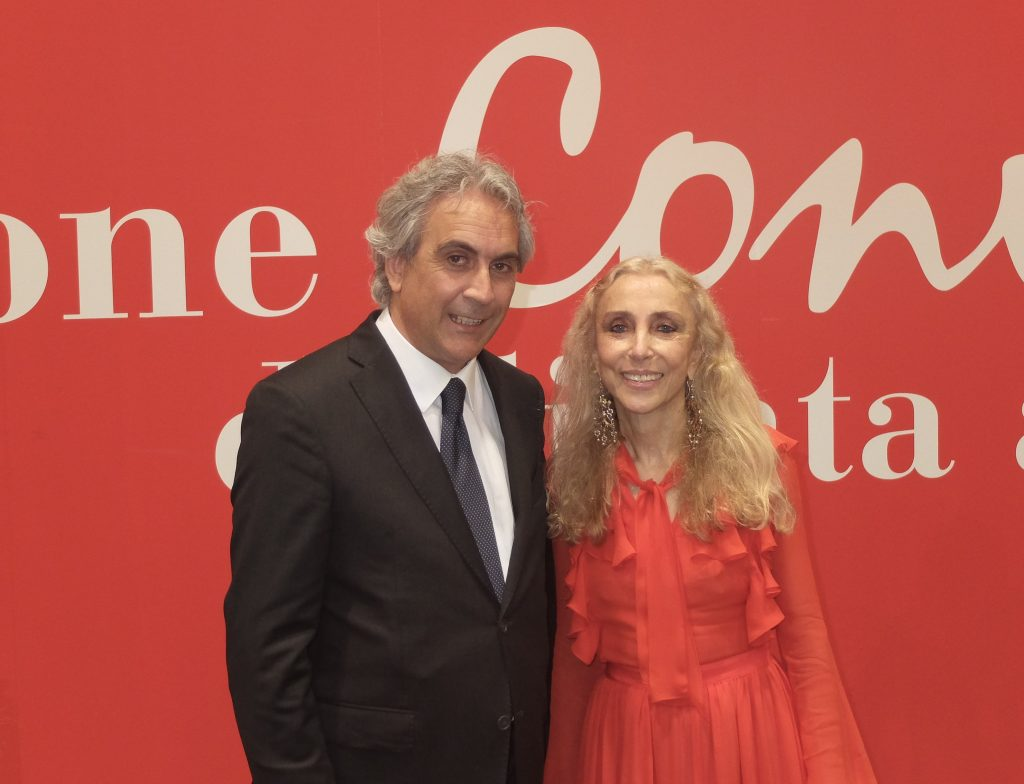 Realino Mazzotta con Franca Sozzani